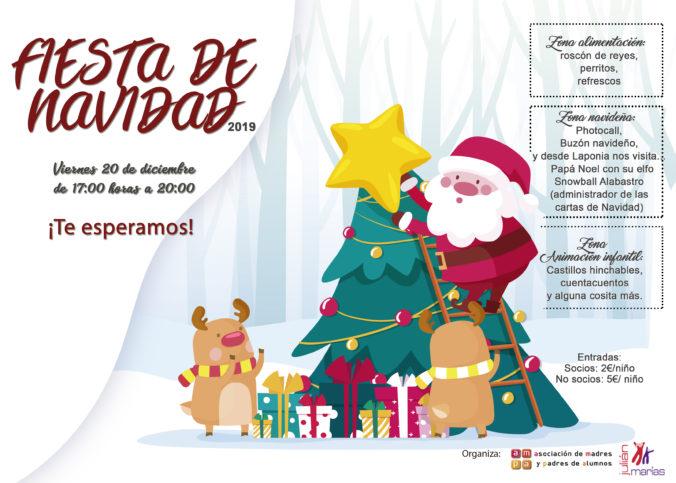 Fiesta de Navidad Julián Marias. 20 de diciembre de 2019. De 17.00 a 20.00