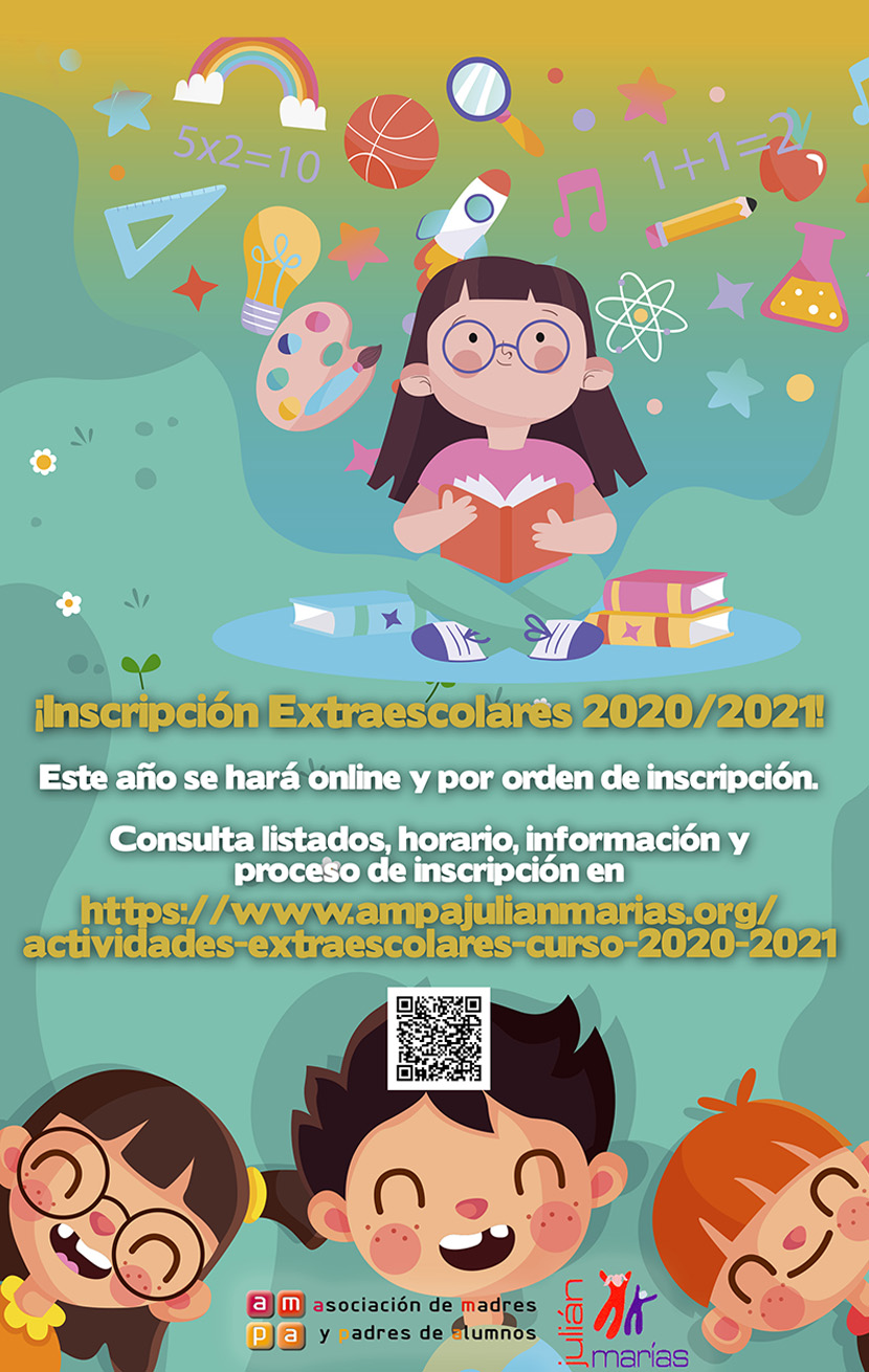 Abierto plazo de inscripción extraescolares 2020/2021